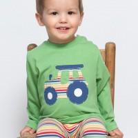 Langarmshirt mit Traktor in grün