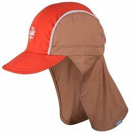 Capi - Schirmmütze Nackenschutz heiße Tage braun