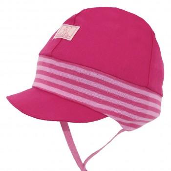 Babymütze mit softem Ohrenschutz Nils UV 80 pink