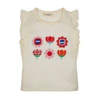 Vorschau: T-Shirt mit Blumen & Schmetterlingsärmel