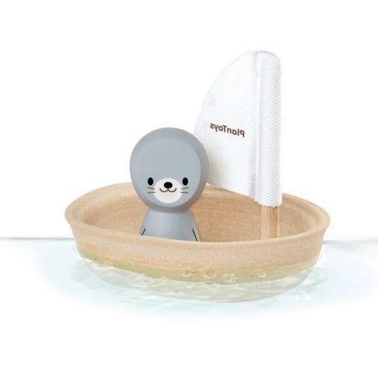Badewannenspielzeug Segelboot Robbe