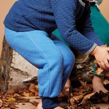 Weiche Hose Wollfleece blau