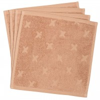 Frottee Waschlappen 4er-Pack in rosé