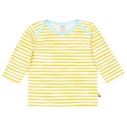 Shirt langarm Streifen gelb