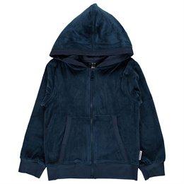 Velour Jacke dunkelblau warm