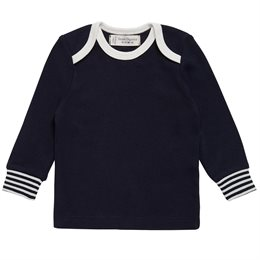Basic Shirt softe Armbündchen navy